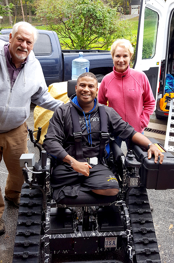 Veteran Receives All-Terrain Chair with Grant from Sgt. David J. Smith Fund